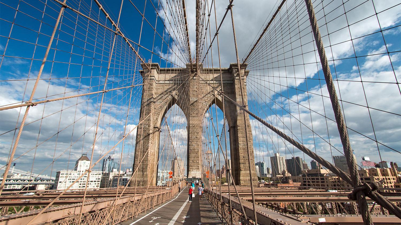 Brooklyn Bridge v New Yorku