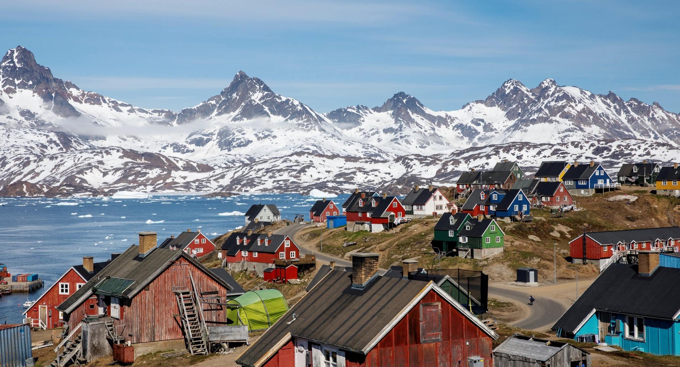 město Nuuk v Grónsku