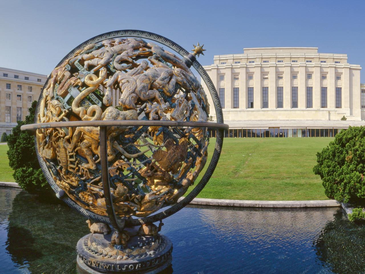 budova OSN v Ženevě