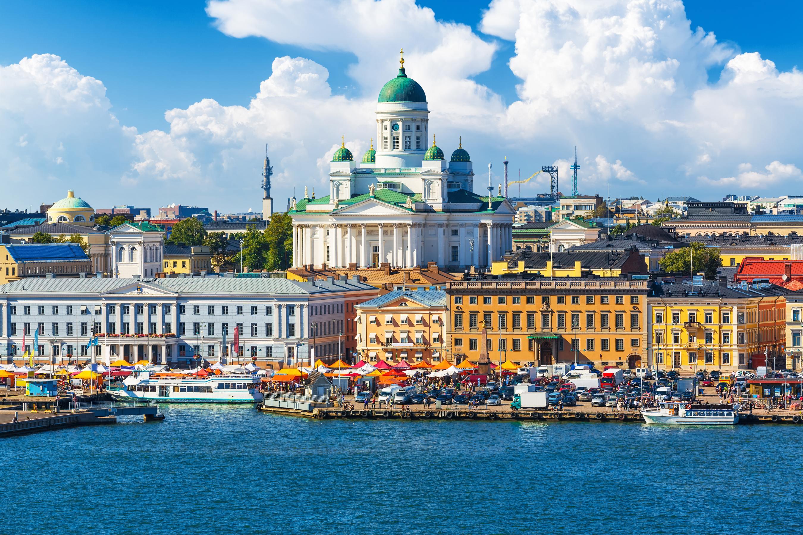 Helsinki - pohled na město