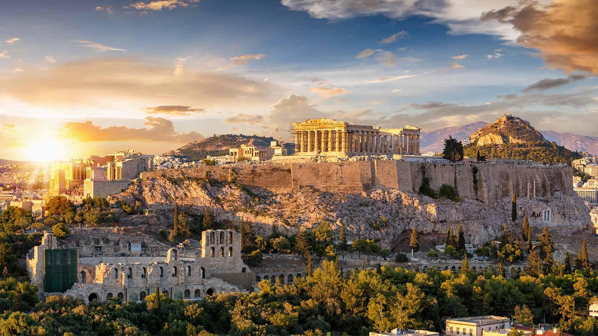 Pohled na Athény