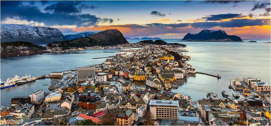 norské město Alesund