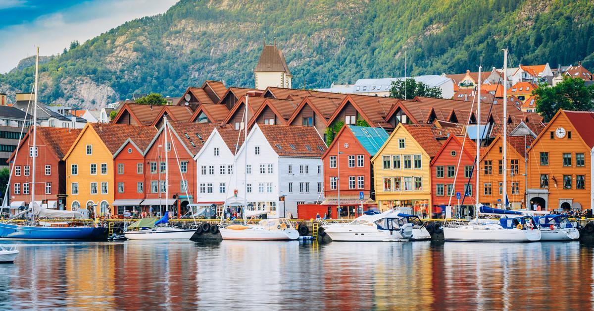 pohled na norský Bergen