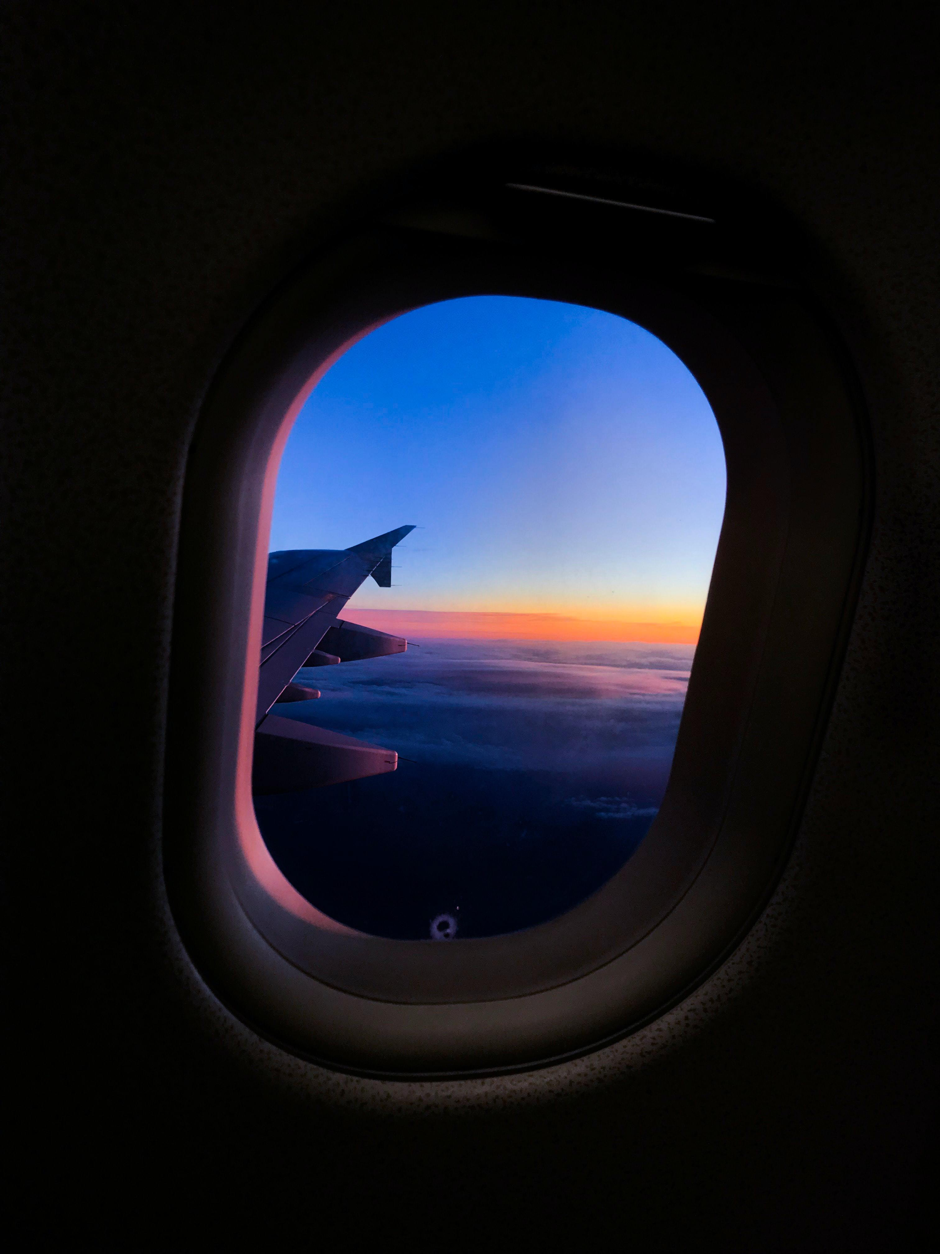 výhled z okénka - letadlo