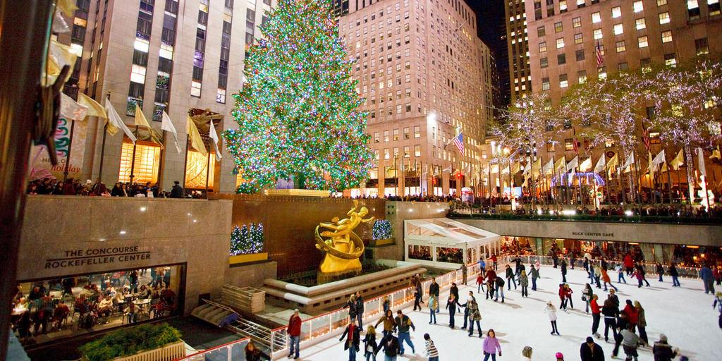 Rockefeller Center o vánocích