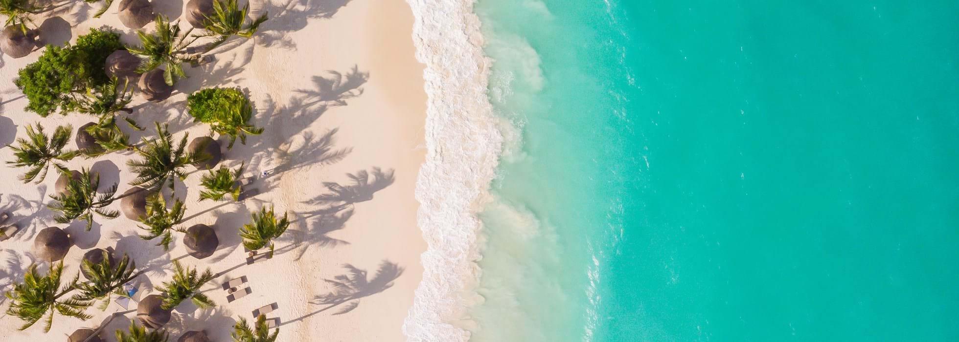 pohled z výšky na Zanzibar