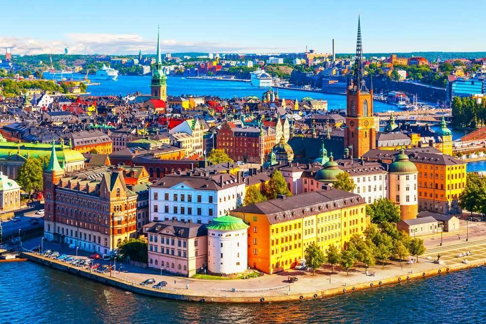 výhled na Stockholm