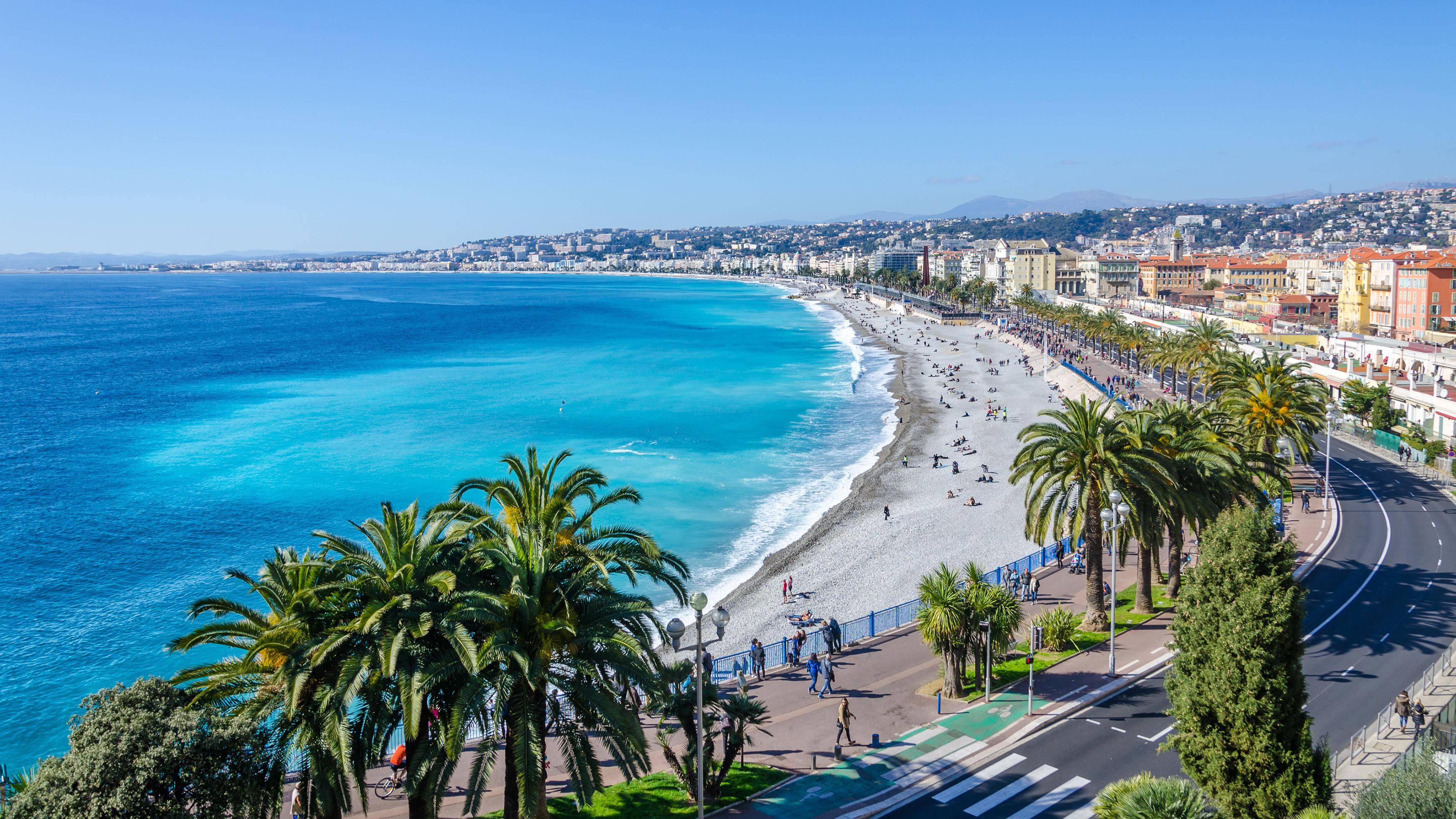 promenáda v Nice