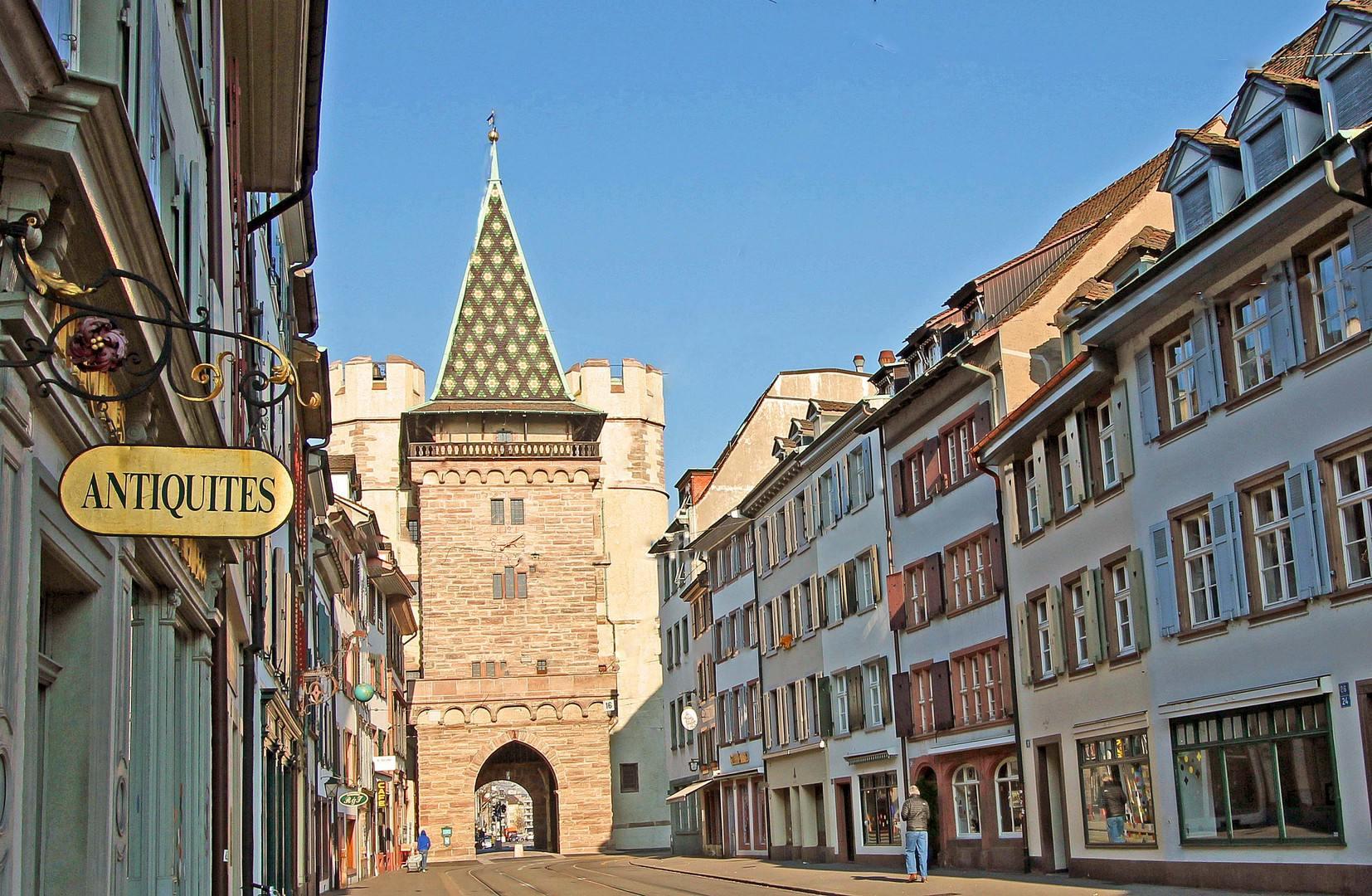 Brána Spalentor v centru Basileje