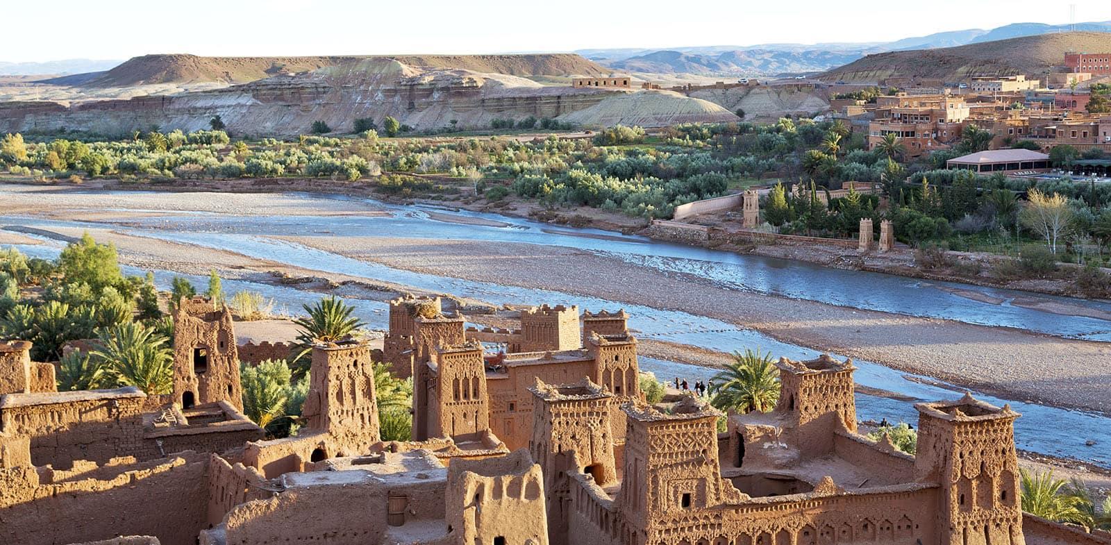 pohled na město v Maroku