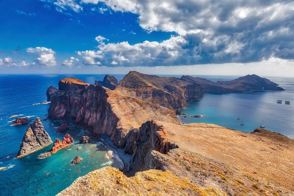 útesy na Madeiře