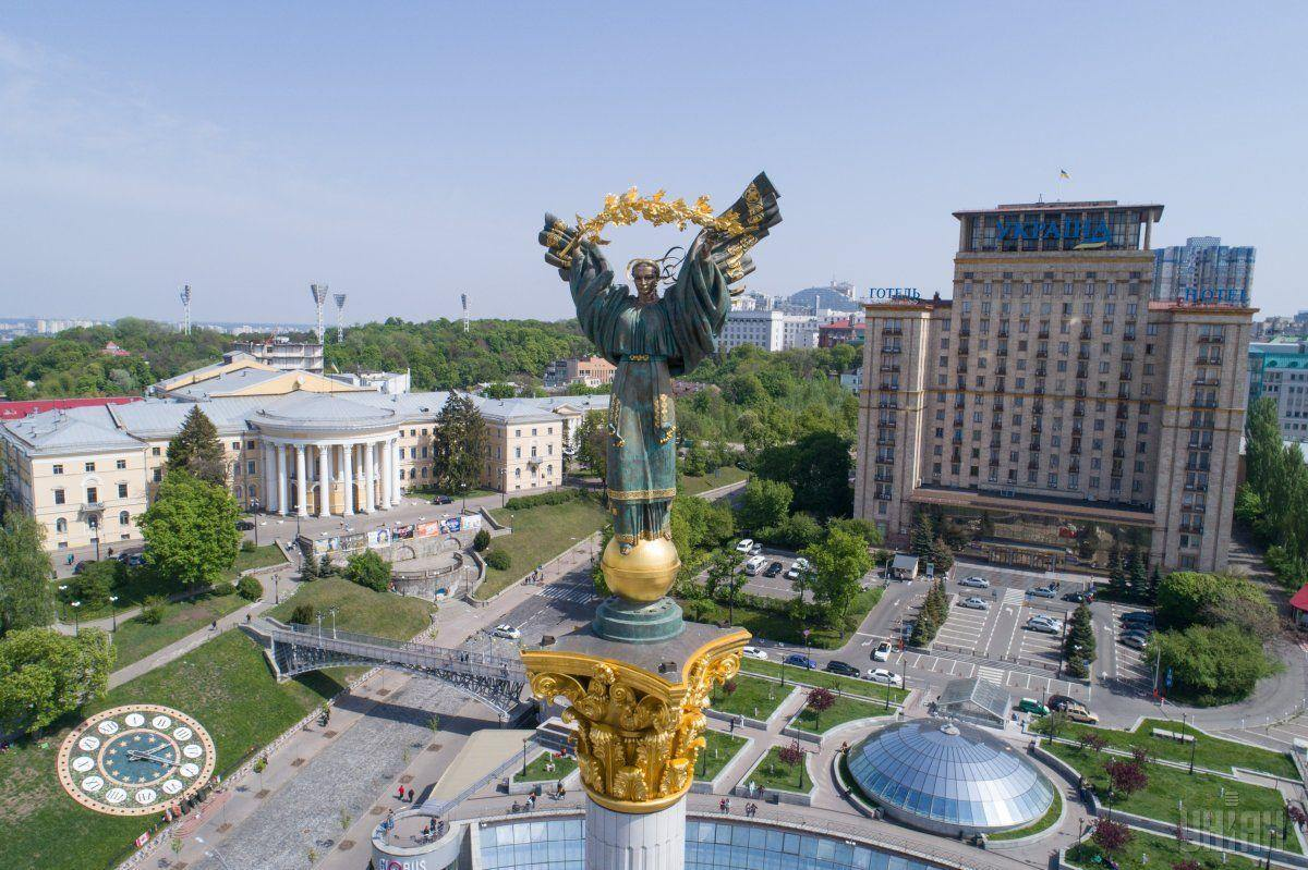 Majdan - hlavní náměstí v Kyjevě