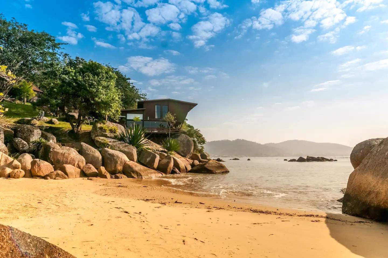 ubytování na pláži na Seychellách