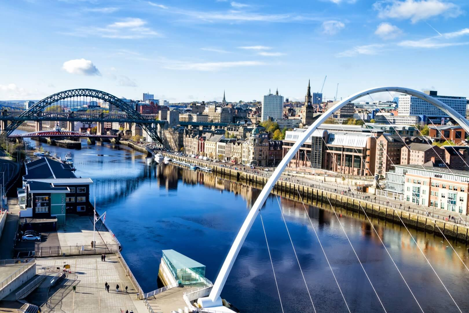 pohled na řeku v Newcastle