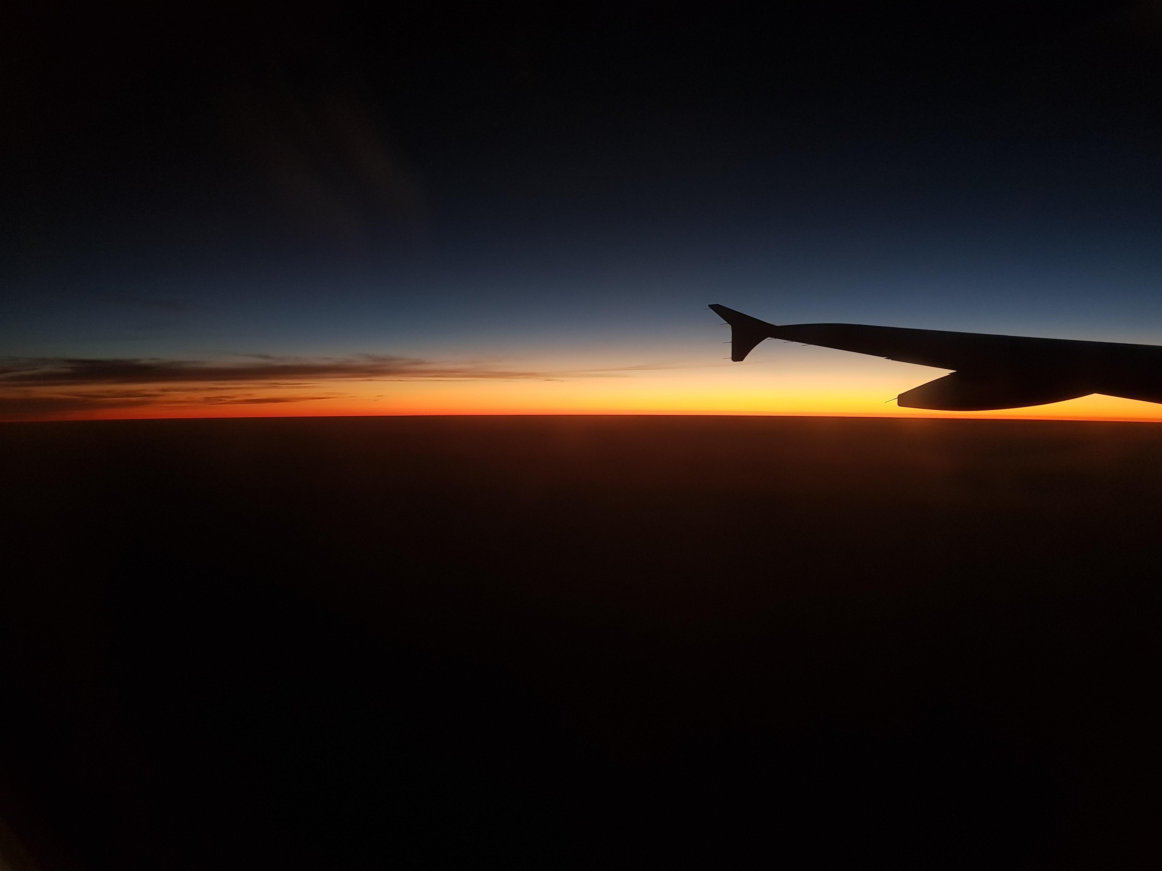 výhled z letadla na mraky